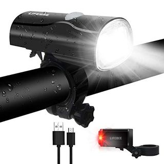 LIFEBEE Fahrradlichter Set LED Fahrradbeleuchtung StVZO Zugelassen USB Wiederaufladbare