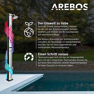 Arebos Solardusche 37 l/196 cm