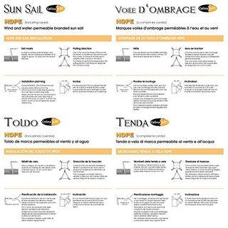 CelinaSun Sonnensegel Sonnenschutz Garten Balkon und Terrasse wetterbeständig