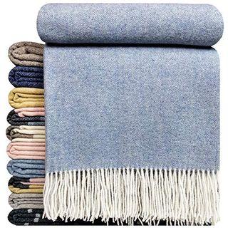 STTS International Kaschmir Decke Wolldecke Wohndecke 100% Wolle