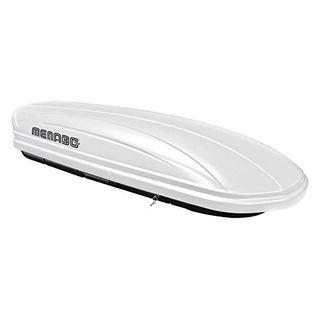 MENABO Dachbox Dachkoffer Gepäckbox abschließbar weiß 320 Liter