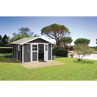 Ondis24 Gartenhaus Deco H 11 dunkelgrau weiß