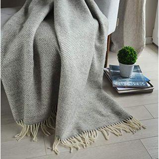Linen & Cotton Wolldecke Thea