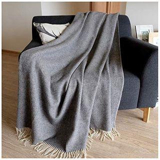 Linen & Cotton Merino Wohndecke Stonewold