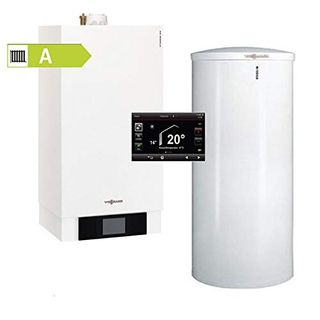Viessmann Vitodens 300-W Gas-Brennwertgerät Vitocell 100-W 200 L CVA Therme