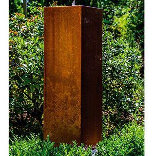 """Köhko Würfelbrunnen """"Peru"""" Höhe 119 cm Gartenbrunnen 31006 aus Cortenstahl"""