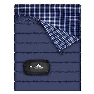 Agemore Baumwollflanell-Doppelschlafsack für Camping