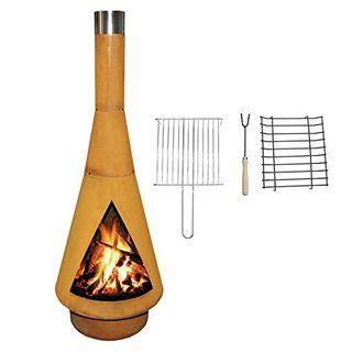 YERD Corten Terrassen-Ofen Grill-Kamin