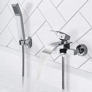 BONADE Badewannenarmatur mit brause Duschset Wasserfall Badewanne Wasserhahn