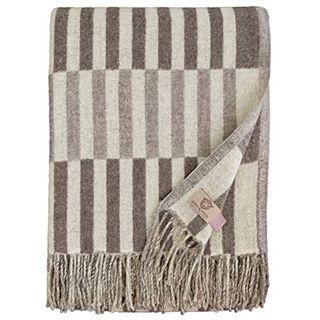 Linen & Cotton Luxus Stilvolle Merino Wohndecke Frans