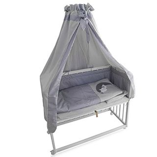 Beistellbett Kinderbett Gitter Himmelbett Babybett Bett Stillbett