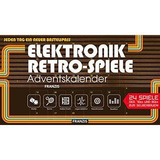 FRANZIS Elektronik-Retro-Spiele-Adventskalender 2018 24 Spiele der 70er und 80er