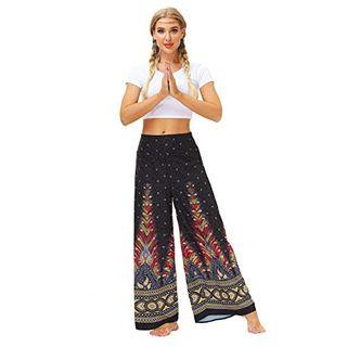 TUDUZ Yoga Hosen Baggy Hippie Boho Hose Haremshose Hosenrock