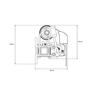 JAROLIFT Gelenkarmmarkise Basic