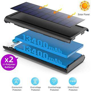 QTshine Solar Powerbank 26800mAh