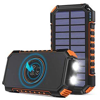 Hiluckey Wireless Solar Powerbank 26800mAh Wasserdichtes Solar