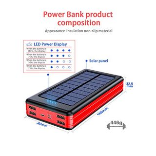 Solar Powerbank 30000mAh Externer Akku