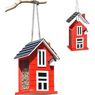 Haushalt International Vogelfutterhaus in Rot