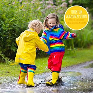 smileBaby Wasserdichte Kinder Regenjacke Regenmantel