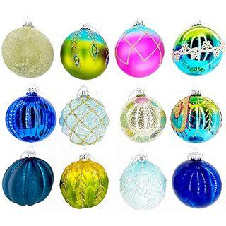 My-goodbuy24 12er Set Luxus Weihnachtskugeln Set H