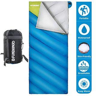 Fundango Leichter Schlafsack für Erwachsene Camping Warmes Wetter Schlafsack