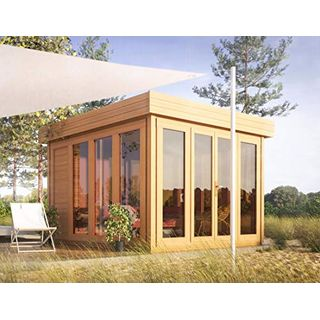 Flachdach-Gartenhaus Sonneninsel