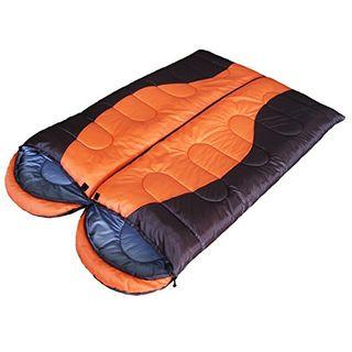 WeAreAwesome Doppel-Schlafsack Orange Braun Grau