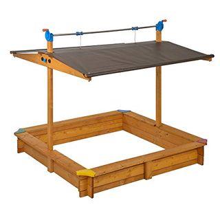 Gaspo 310016 Holz Sandkasten Mickey 140 x 140 cm