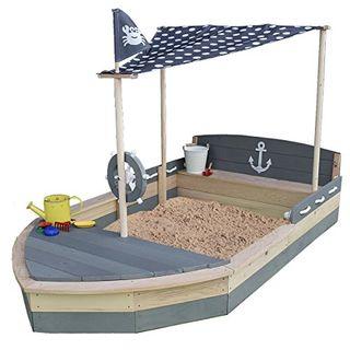 Sandkasten Boot Krabbe XXL aus Holz