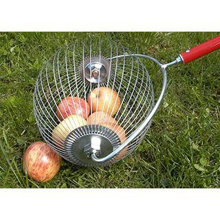 HorTera Apfelsammler Rollsammler mit plastikfreiem Sammelkorb inkl. Zubehör