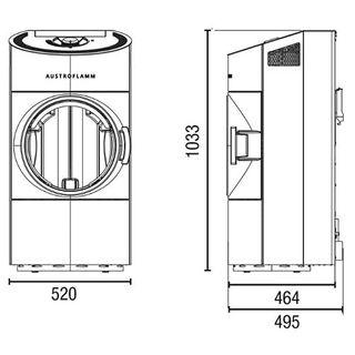Austroflamm Pelletofen Clou Compact Pellet 6kW