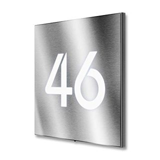 Metzler Hausnummer Edelstahl LED beleuchtet
