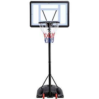 Yaheetech Basketballständer Basketballkorb mit Rollen Basketballanlage Höhenverstellbar Korbanlagen