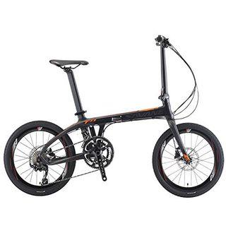 "SAVADECK Z1 Faltrad 20"" City Carbon-/Kohlefaser Rahmen"
