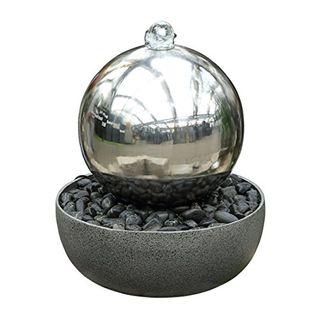 Dehner Gartenbrunnen Globe mit LED Beleuchtung