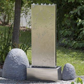 Köhko Wasserwand 23001 aus Edelstahl Wasserspiel