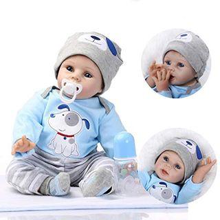 ZIYIUI Reborn Baby Puppe 22''/55cm Lebensecht Weiches Silikon