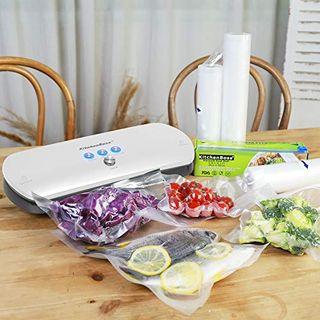 KitchenBoss 3-in-1 Vakuumiergerät für Trockene und Feuchte Lebensmitteln