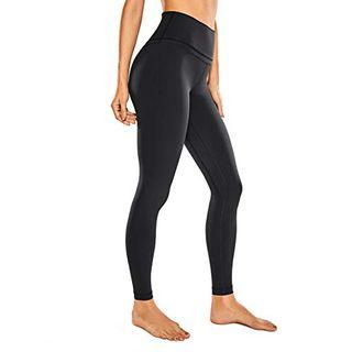CRZ YOGA Damen Nackte Empfindung Hohe Taille Joggen Yoga Leggings