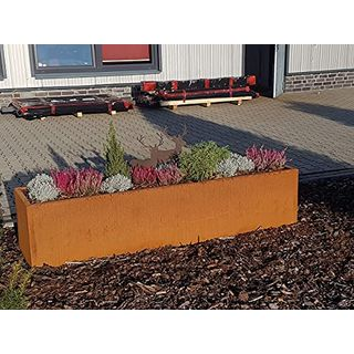 Jabo Design HO01 Hochbeet Pflanzengefäße Deko Rostdeko Edelrost Schale