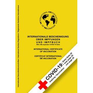 Internationale Bescheinigung Über Impfungen UND IMPFBUCH: Neu: