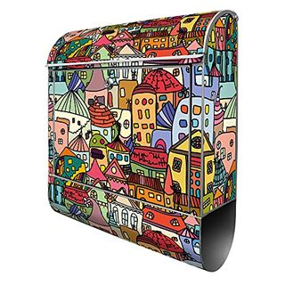 Banjado Design Briefkasten mit Motiv Funky Town