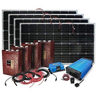 4.000 Watt Insel Solaranlage autarke PV-Anlage PZS