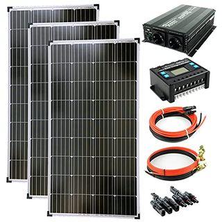 solartronics Komplettset 3x130 Watt Solarmodul 1500 Watt Wandler Laderegler
