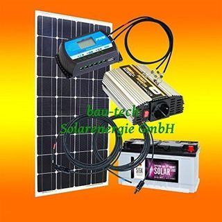 bau-tech Solarenergie 130 Watt Inselanlage