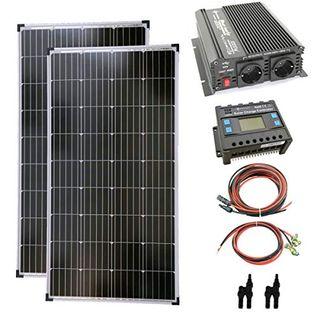 solartronics Komplettset 2x130 Watt Solarmodul 1000 Watt Wandler Laderegler