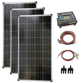 solartronics Komplettset 3x130 Watt Solarmodul Laderegler Photovoltaik