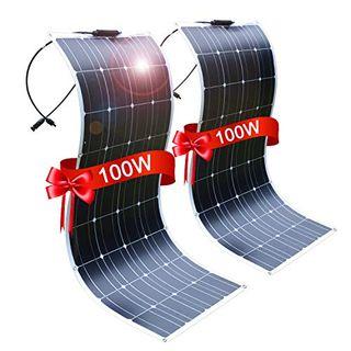 DOKIO 2 * 100W Solarpanel flexibel Mono 200W 12V