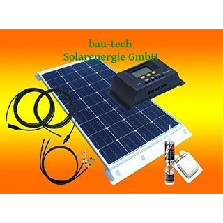 bau-tech Solarenergie 100Watt WoMo Solaranlage Komplettpaket