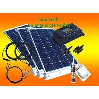 bau-tech Solarenergie 300 Watt Wohnmobil Camping Solaranlage